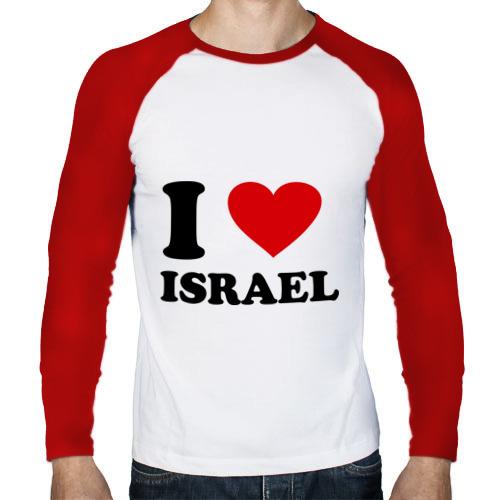 Мужской лонгслив реглан  Фото 01, I love Israel