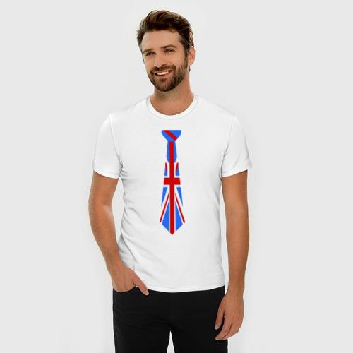 Мужская футболка премиум  Фото 03, Британский флаг на галстуке