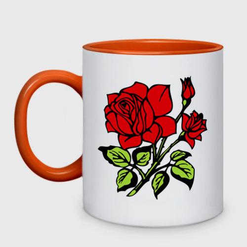 Кружка двухцветная Роза Фото 01