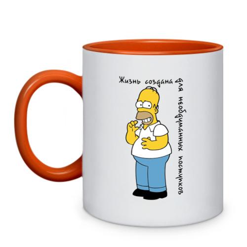 """Кружка двухцветная """"Гомер Симпсон"""" - 1"""