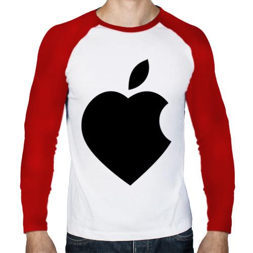 Мужской лонгслив реглан  Фото 01, Сердце- яблоко