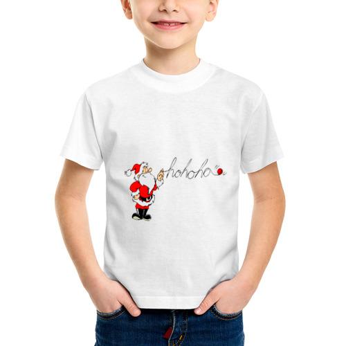 Детская футболка синтетическая Ho-Ho-Ho