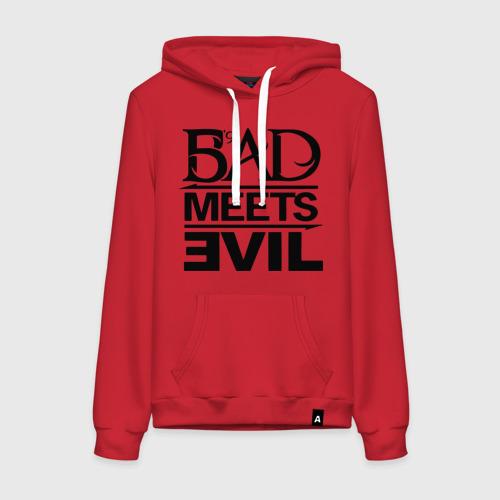 Женская толстовка хлопок Bad Meets Evil