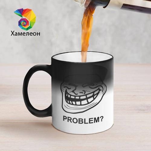 Кружка хамелеон Trollface. Problem? Проблемы? Фото 01