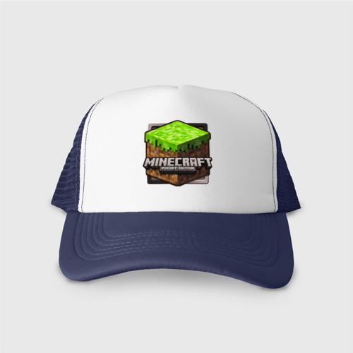 Кепка тракер с сеткой Minecraft logo (3) Фото 01