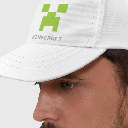 Бейсболка Minecraft logo grey (3)