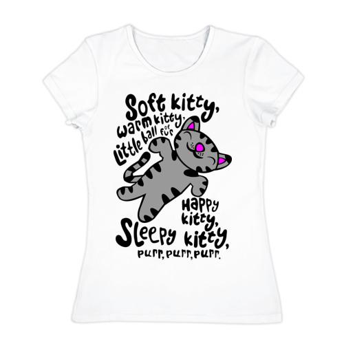 Женская футболка хлопок Песня шелдона
