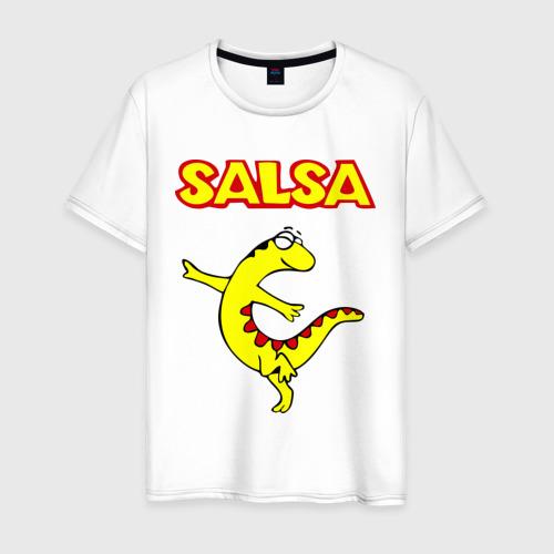Мужская футболка хлопок Сальса ящерица