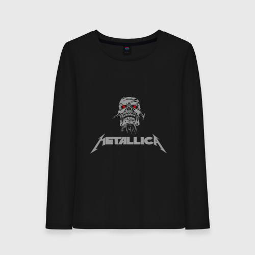 Женский лонгслив хлопок  Фото 01, Metallica scool