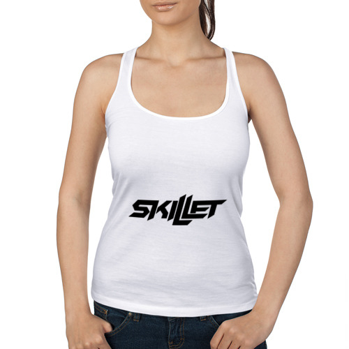 Женская майка борцовка  Фото 01, Skillet logotip