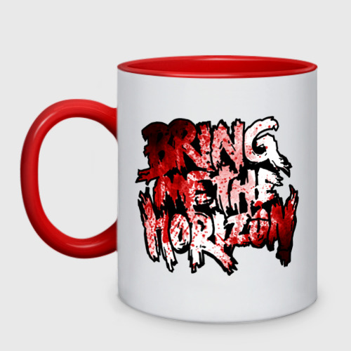 Кружка двухцветная  Фото 01, Bring me the horizon blood in (5)