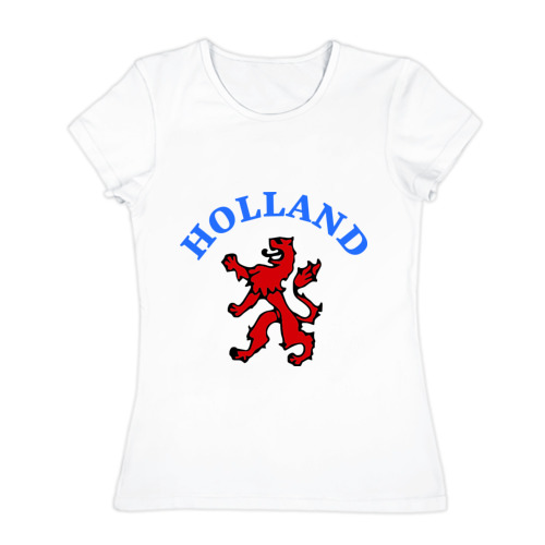 Женская футболка хлопок  Фото 01, Голландия лев