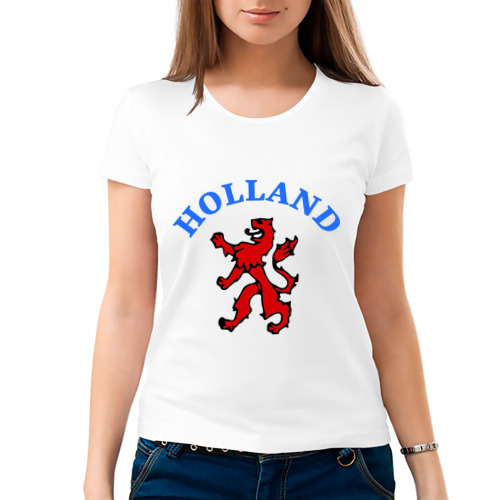 Женская футболка хлопок  Фото 03, Голландия лев