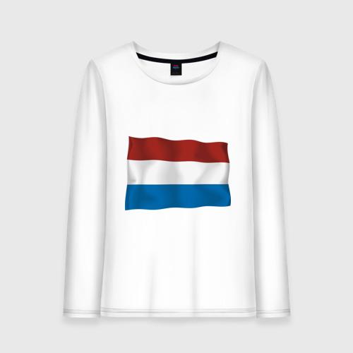 Женский лонгслив хлопок  Фото 01, Голландия флаг
