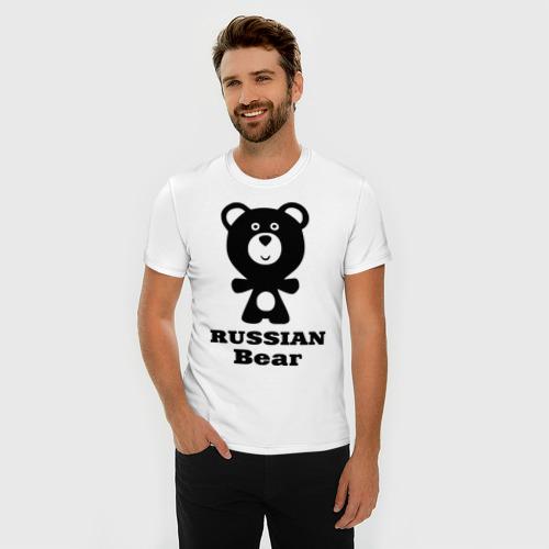Мужская футболка премиум  Фото 03, Russian bear
