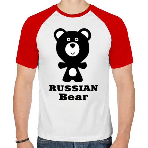Мужская футболка реглан  Фото 01, Russian bear