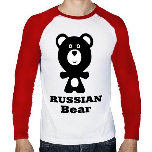 Мужской лонгслив реглан  Фото 01, Russian bear