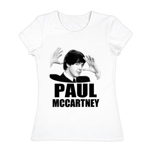 Женская футболка хлопок Paul McCartney (Пол МакКартни)