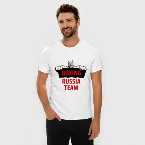 Мужская футболка премиум  Фото 03, Boxing Russian Team