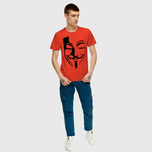Мужская футболка хлопок Вендетта маска Фото 01