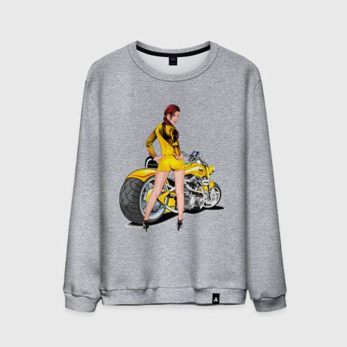 Мужской свитшот хлопок  Фото 01, The excellent bike & sexy girl (2)