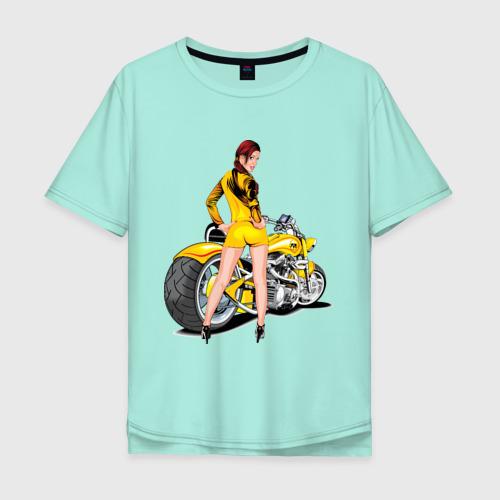 Мужская футболка хлопок Oversize The excellent bike & sexy girl (2) Фото 01