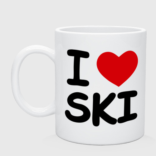 Кружка  Фото 01, I love ski
