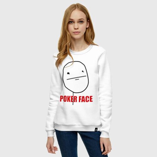 Женский свитшот хлопок Poker Face (mem) Фото 01