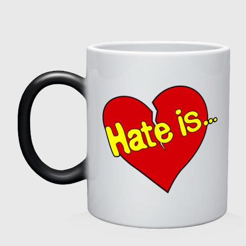 Кружка хамелеон  Фото 01, Hate is...