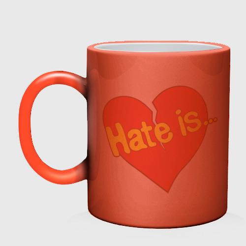 Кружка хамелеон  Фото 02, Hate is...