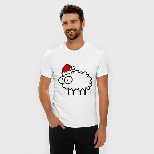 Мужская футболка премиум  Фото 03, Новогодний бараш