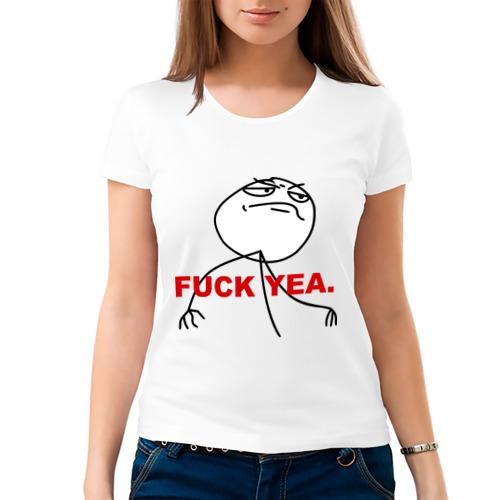 Женская футболка хлопок  Фото 03, FUCK YEA.