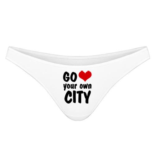 Трусы танга Your own city от Всемайки