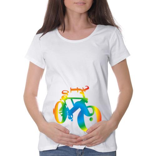 Футболка для беременных хлопок  Фото 01, Велобуквы полноцвет