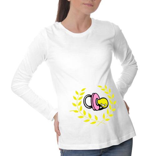 Лонгслив для беременных хлопок Пустышка для младенца