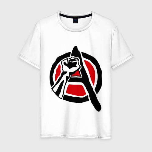 Мужская футболка хлопок Анархия кулак