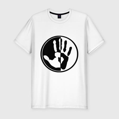Мужская футболка премиум  Фото 01, рука инь и янь