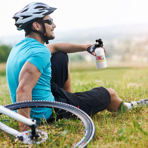 Бутылка спортивная  Фото 05, Айкидо флаг серый