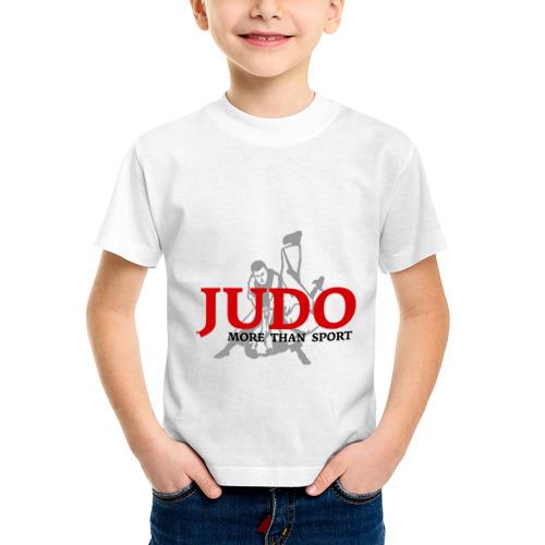 Детская футболка синтетическая Дзюдо силуэт борцы от Всемайки