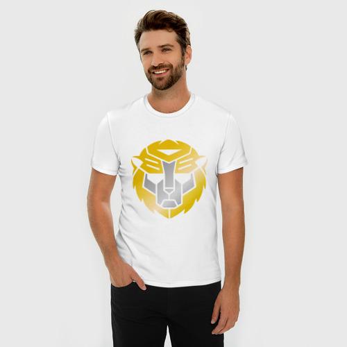 Мужская футболка премиум  Фото 03, Трансформер лев