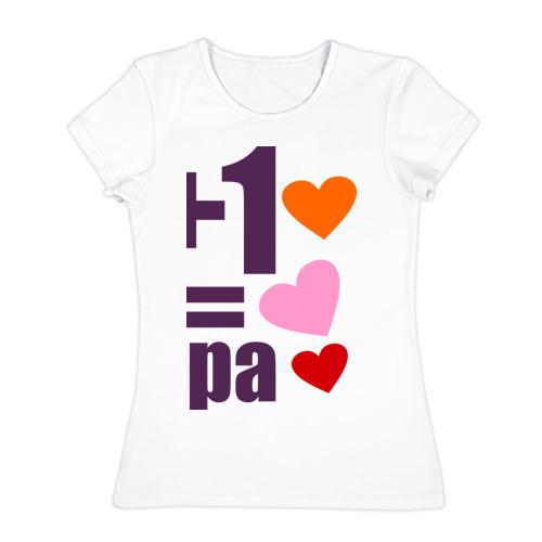 Женская футболка хлопок  Фото 01, 1+1