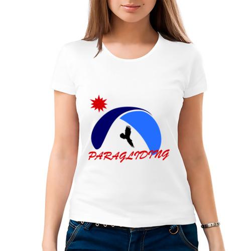 Женская футболка хлопок  Фото 03, Парапланеризм