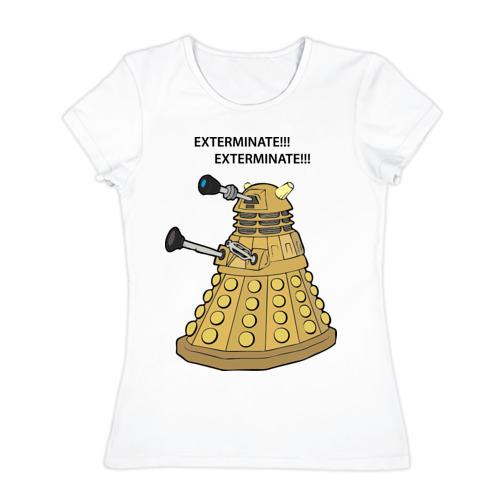 Женская футболка хлопок Далек из сериала Доктор Кто