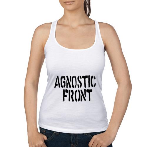 Женская майка борцовка Agnostic front