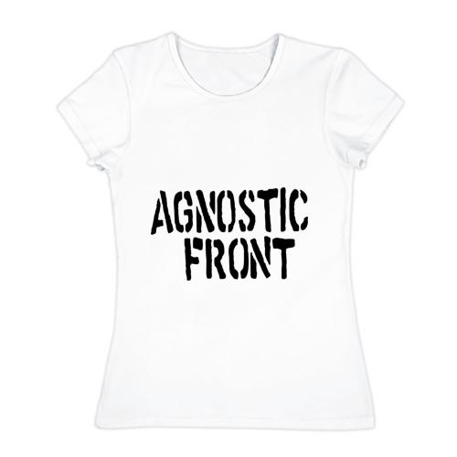 Женская футболка хлопок Agnostic front