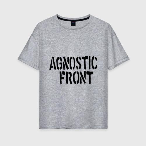 Женская футболка хлопок Oversize Agnostic front Фото 01