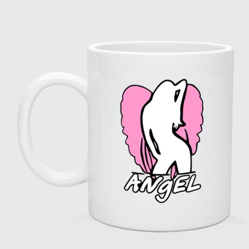 Кружка  Фото 01, Angel girl pink