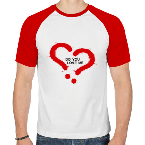 Мужская футболка реглан  Фото 01, Do you love me