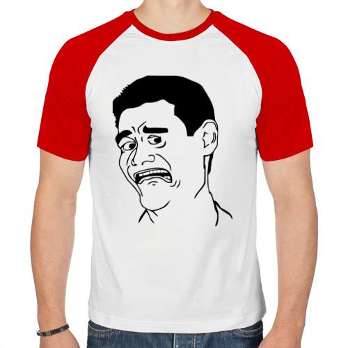 Мужская футболка реглан  Фото 01, Яо Минг без улыбки