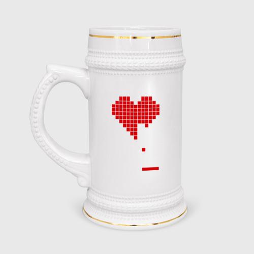Кружка пивная  Фото 01, Heart tetris